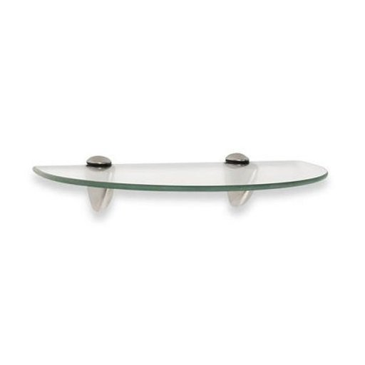 "View a Larger Image of Knape & Vogt 8"" x 12"" Semi-Circle Glass Shelf Kit"