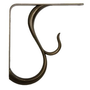 Knape & Vogt Baton Rouge Designer Shelf Bracket, Antique Bronze Finish