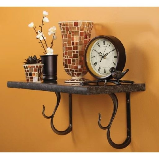 View a Larger Image of Knape & Vogt Baton Rouge Designer Shelf Bracket, Black Finish
