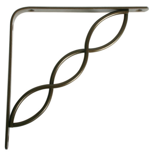 "View a Larger Image of Knape & Vogt Concord Designer Shelf Bracket, 8"", Antique Bronze Finish"