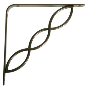 "Knape & Vogt Concord Designer Shelf Bracket, 8"", Antique Bronze Finish"