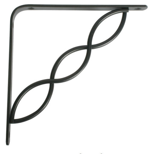 "View a Larger Image of Knape & Vogt Concord Designer Shelf Bracket, 8"", Black Finish"
