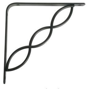 "Knape & Vogt Concord Designer Shelf Bracket, 8"", Black Finish"