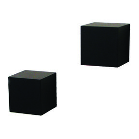 Knape & Vogt Decorative Wall Cubes, 1 Pair, Black Finish