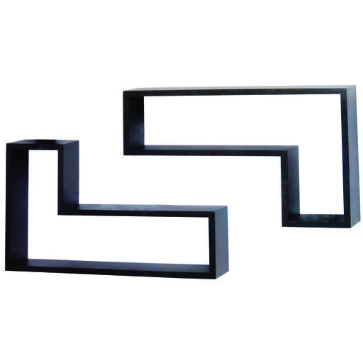View a Larger Image of Knape & Vogt L-Shaped Shelf Set, Black Finish