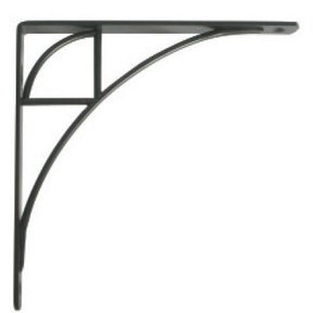 Knape & Vogt Oak Park Designer Shelf Bracket, Black Finish