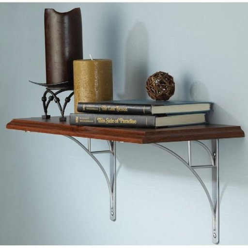 View a Larger Image of Knape & Vogt Oak Park Designer Shelf Bracket, Black Finish