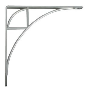 Knape & Vogt Oak Park Designer Shelf Bracket, Satin Nickel Finish