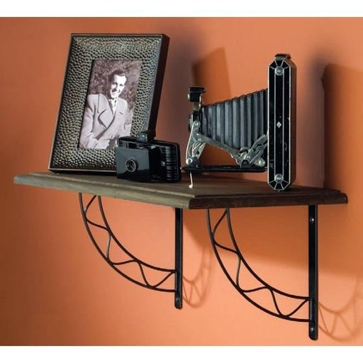 View a Larger Image of Knape & Vogt Stockton Designer Shelf Bracket, Antique Bronze Finish