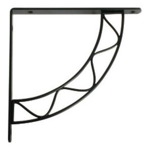 Knape & Vogt Stockton Designer Shelf Bracket, Black Finish