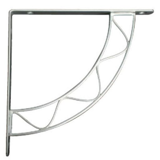 View a Larger Image of Knape & Vogt Stockton Designer Shelf Bracket, Satin Nickel Finish