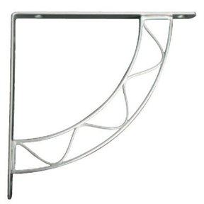 Knape & Vogt Stockton Designer Shelf Bracket, Satin Nickel Finish
