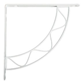 Knape & Vogt Stockton Designer Shelf Bracket, White Finish