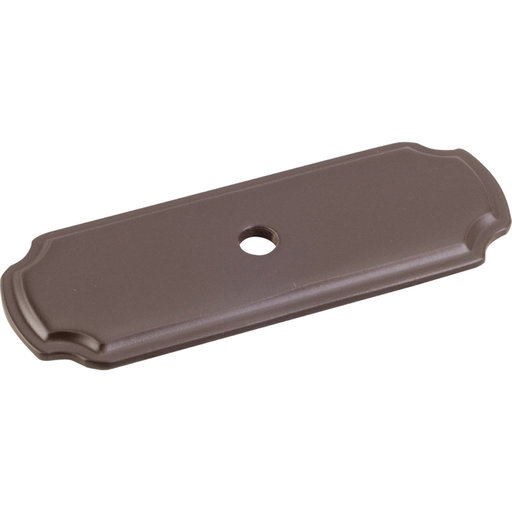 "View a Larger Image of Knob, Backplate, 2-13/16"" O.L., Dark Bronze"