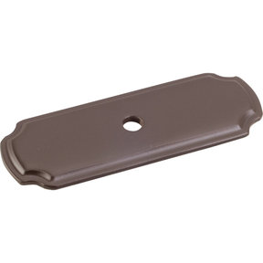 "Knob, Backplate, 2-13/16"" O.L., Dark Bronze"