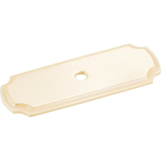 "View a Larger Image of Knob, Backplate, 2-13/16"" O.L.,, Satin Brass"