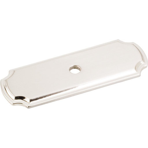 """View a Larger Image of Knob, Backplate, 2-13/16"""" O.L.,, Satin Nickel"""