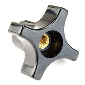 "Knob, Four Arm with Through Hole, 1/4""-20 Insert"