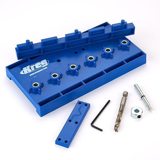 "View a Larger Image of 32mm Spacing Shelf Pin Jig With 1/4"" Drill Bit"