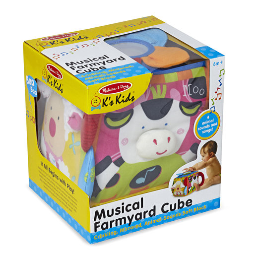 View a Larger Image of K's Kids Musical Farmyard Cube Educational Baby Toy
