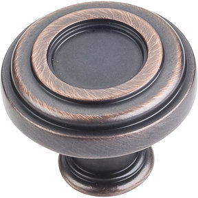 "Lafayette Knob, 1-3/8"" Dia.,  Brushed Oil Rubbed Bronze"