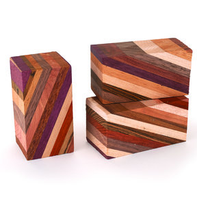 "Laminated 1-1/2"" x 1-1/2"" x 3"" Wood Turning Stock Blank"