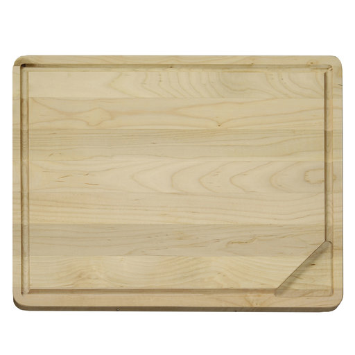 View a Larger Image of Large 18 X 14 inch Reversible Hardwood Cutting Board with Gravy Groove & Well