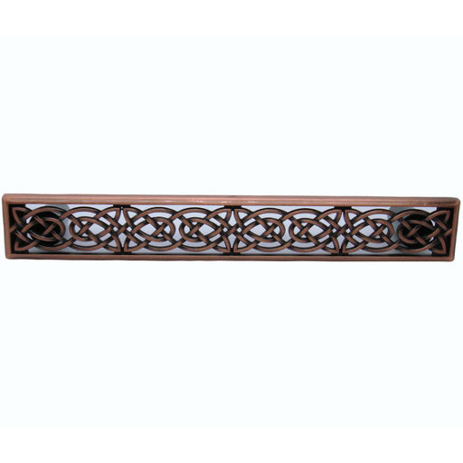 View a Larger Image of Large Celtic Style Pull,  Satin Copper Oxide