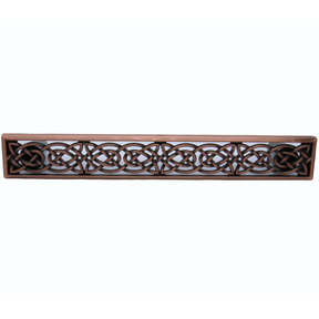 Large Celtic Style Pull,  Satin Copper Oxide