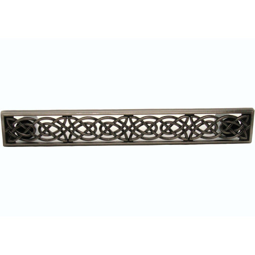 View a Larger Image of Large Celtic Style Pull,  Satin Nickel Oxide