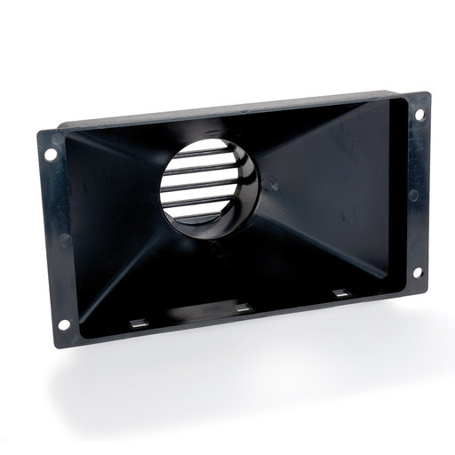 "View a Larger Image of Large Flanged Dust Hood With 4"" Port"