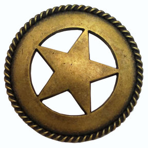 Large Star with Rope Pull, Brass Oxide