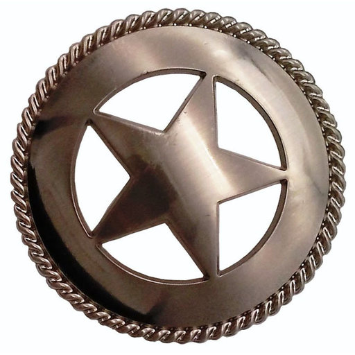 View a Larger Image of Large Star with Rope Pull, Satin Nickel