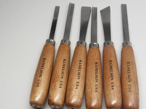 View a Larger Image of Large Woodcarving Gouge & Chisel Set