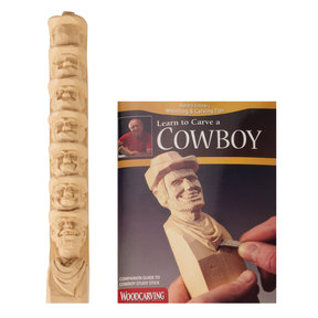 Learn to Carve a Cowboy-Study Stick
