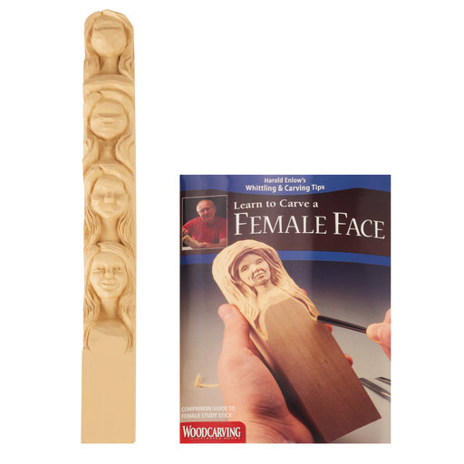 View a Larger Image of Learn to Carve a Female Face- Study Stick