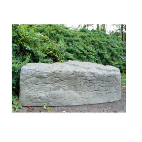Left Triangle Landscaping Rock, Oak/Armor Stone