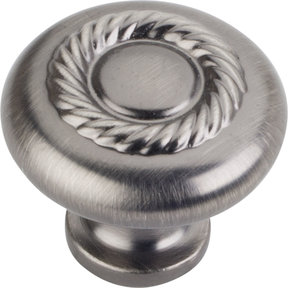 "Lenoir Knob, 1-1/4"" Dia.,  Brushed Pewter"