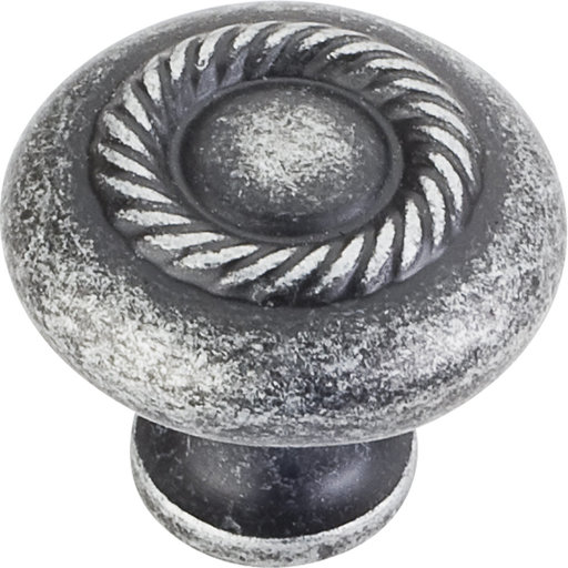 "View a Larger Image of Lenoir Knob, 1-1/4"" Dia.,  Distressed Antique Silver"