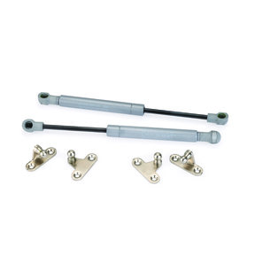 Lift-O-Mat Gas Springs from STABILUS 150 Silver, Pair