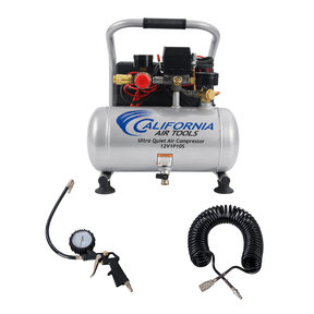 Light and Quiet 12V, 1 Gallon Steel Tank Portable Air Compressor