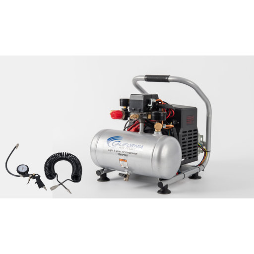 View a Larger Image of 12V 1 Gallon Steel Tank Portable Air Compressor