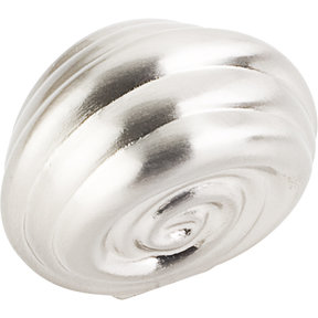 "Lille Knob, 1-1/4"" O.L.,  Satin Nickel"