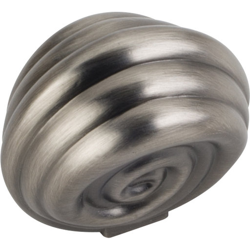 "View a Larger Image of Lille Knob, 1-3/8"" O.L., Brushed Pewter"