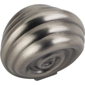 "Lille Knob, 1-3/8"" O.L., Brushed Pewter"