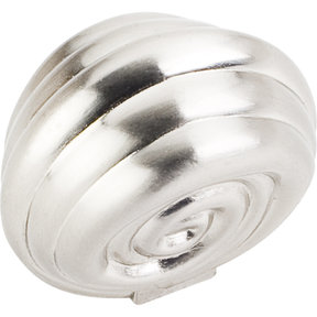 "Lille Knob, 1-3/8"" O.L., Satin Nickel"