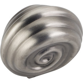 "Lille Small Knob, 1-1/4"" O.L.,  Brushed Pewter"