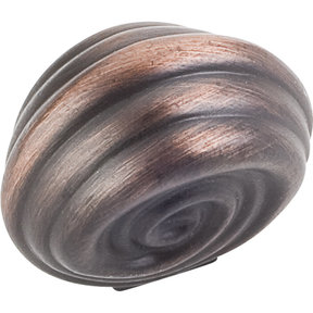 "Lille Small Knob, 1-1/4"" O.L.,  Brushed Oil Rubbed Bronze"