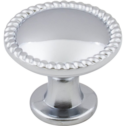 "View a Larger Image of Lindos Round Knob, 1-1/4"" Dia.,  Polished Chrome"