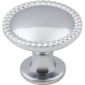 "Lindos Round Knob, 1-1/4"" Dia.,  Polished Chrome"